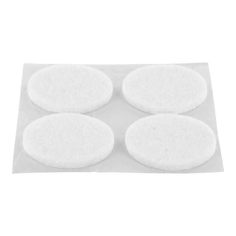 Filzgleiter selbstklebend weiß rund 50mm